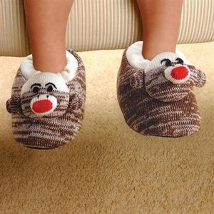 Other - Child's Sock Monkey Slippers